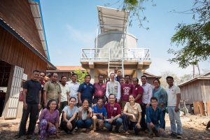 Ratanakiri, Solar Powered Water System and the team of The Johanniter and partners