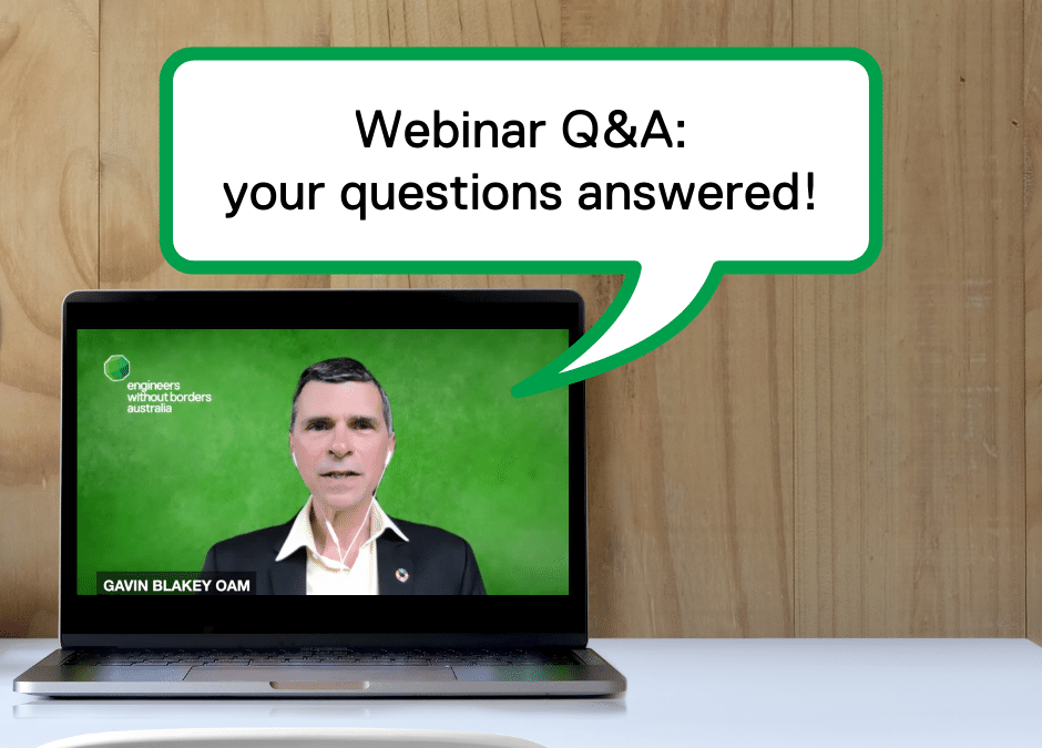 2030 Strategy Launch Webinar Q&As