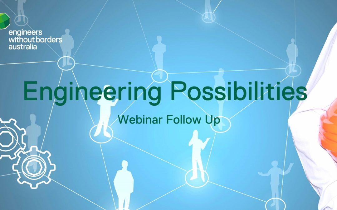 Engineering Possibilities Webinar Q&A